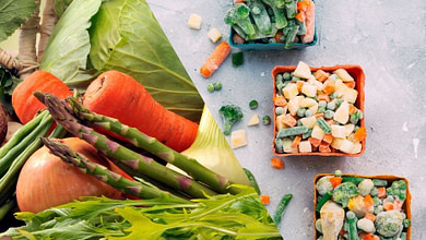 польза замороженных овощей, какие лучше овоощи и фрукты - свежие или замороженные? какие витамины сохраняются при заморозке? какие продукты нельзя хранить в холодильнике